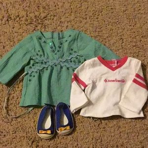 Four pieces of random American girl clothing